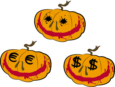 Pumpkin heads Illustration
