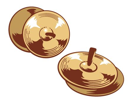 Cymbals isolated on white. Vector illustration. Illustration