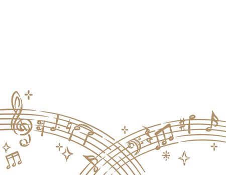 Backgroung with abstract musical notes. Vector illustration.