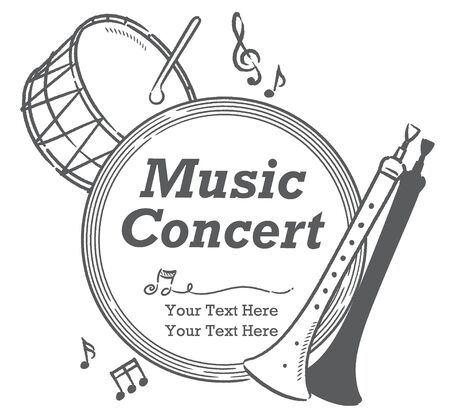 Poster or flyer design with Arabic instruments. Vector illustration.