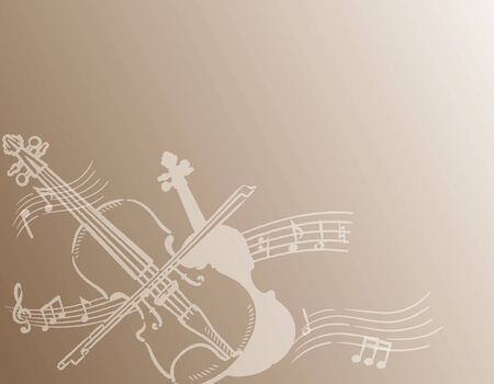 Violin themed background. Vector illustration.