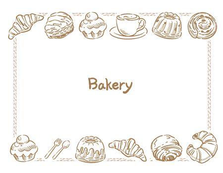 Many varieties of inviting bread. Vector illustration. Ilustrace
