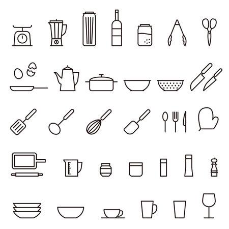 Illustration kitchen tools vector icon