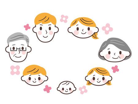 Cartoon family vector illustration
