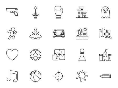 Game genre vector icon