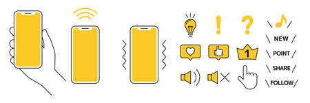 Mobile phones and icons