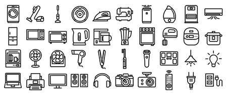Home appliances vector icon