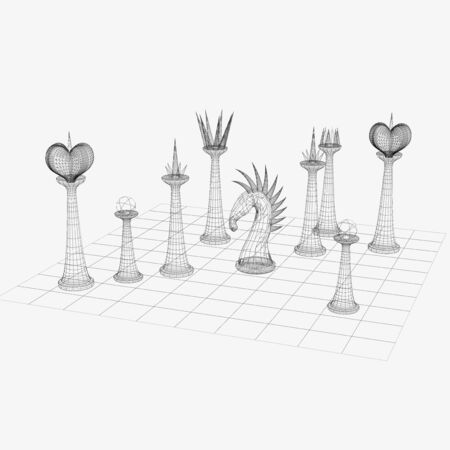 wireframe chess photo