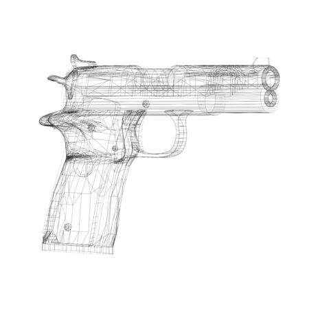 wireframe gun photo