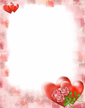 photoframe: Photoframe with love thematic. Stock Photo