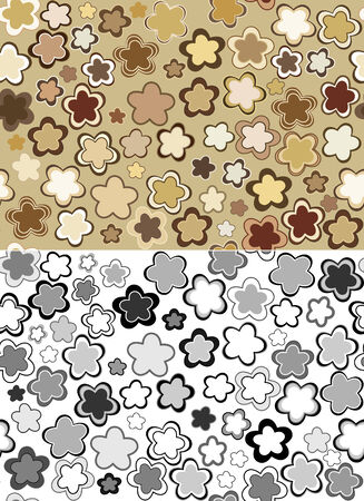 Seamless floral patterns. Vector