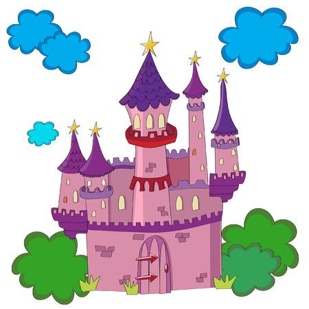 Fairy tale castle in a cute style.