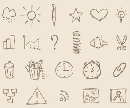 Sketch icons Stock Vector - 4099272