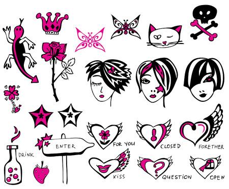Design elements and symbols.  Vector