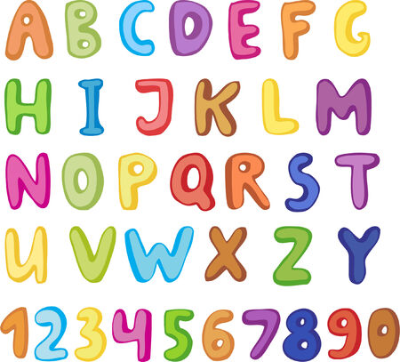 message vector: Cute alphabet Illustration