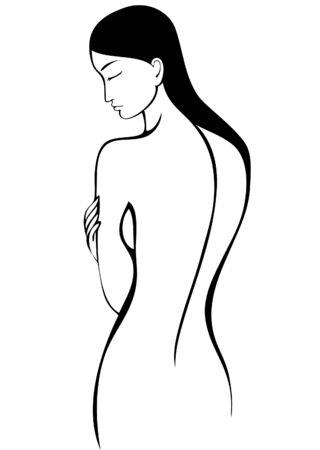 ni�a desnuda: Mujer desnuda