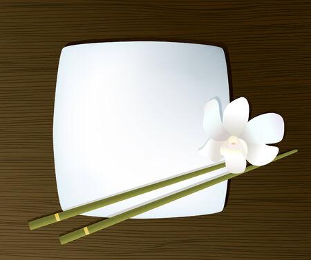 日本料理: お箸でプレート