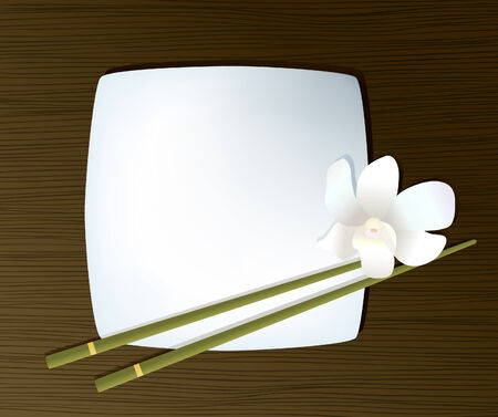 Plate with chopsticks Stock Vector - 4185115
