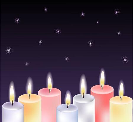 fireside: Candles Illustration