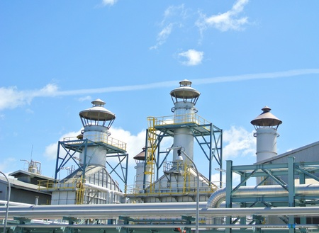 Stack at oil and gas plant Stock Photo