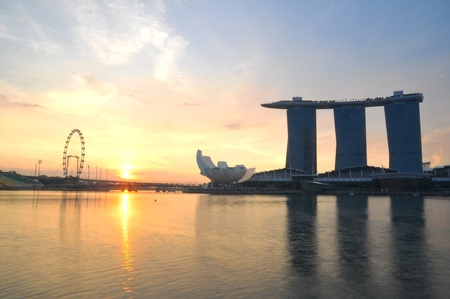 Marina bay sand in the morning