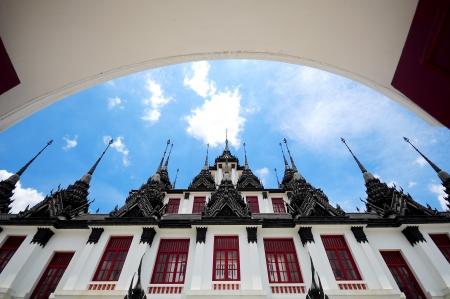 Loha Prasat Metal Palace Temple, Bangkok Thailand