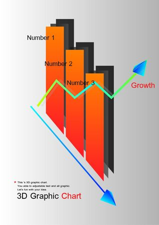 3D design Graphic Chart Stock Vector - 18312120