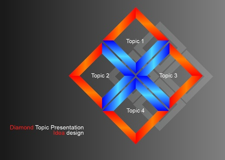 3D Topic stand design for presentation Vector