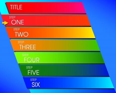 Step Flow Chart design  イラスト・ベクター素材