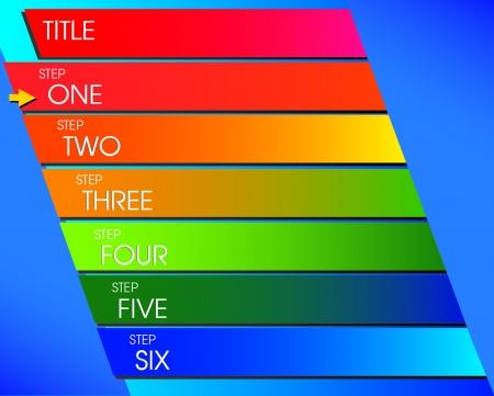 Step Flow Chart design 일러스트