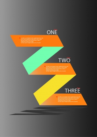 Zig Zag Flow Chart Design Vector