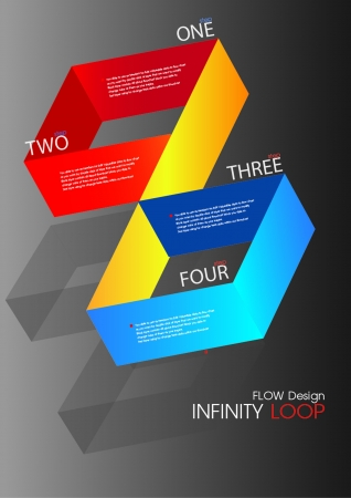 Infinity Loop Flow chart Design Vector