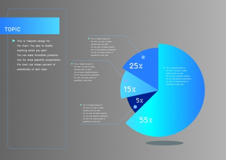 Smart pie chart for presentation Vector
