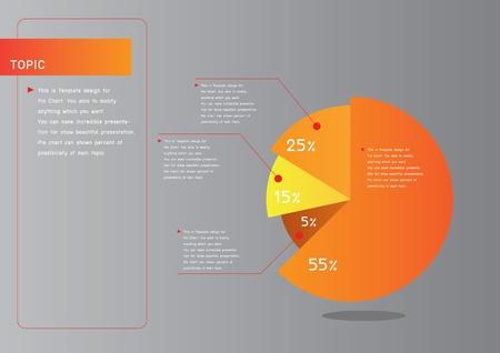 Smart pie chart for presentation Stock Vector - 18667890