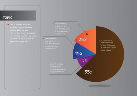 Smart pie chart for presentation Stock Vector - 18667885