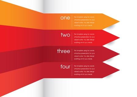 phonographic: Smart arrow for smart presentation Illustration