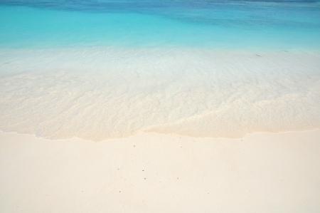 Beautiful beach and clear light green sea ,Ta Chai island Thailand