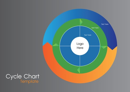 Circle Template graphic for presentation Illustration