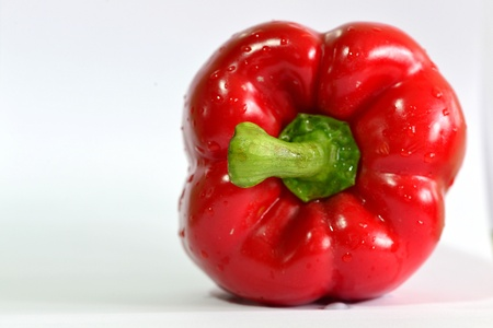 Nice shot of Red sweet pepper photo