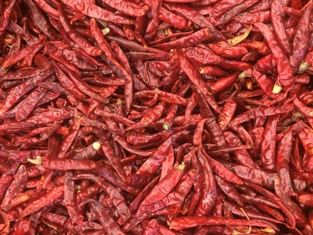 hottest: dry red pepper background