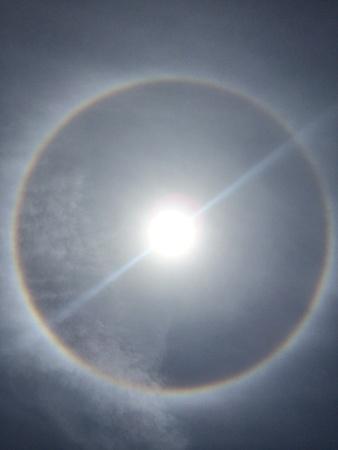 phenomena: Phenomena of sun and rainbow
