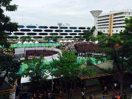 Graduation ceremony at Thammasat university Stock Photo