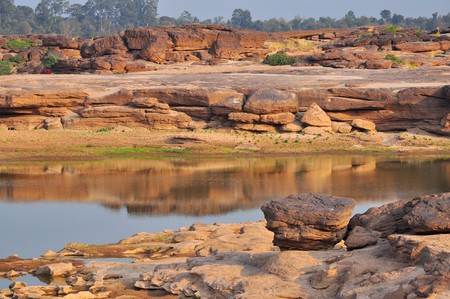 Sam-Pan-Bok Grand Canyon Ubon Ratchathani in Thailandia Archivio Fotografico