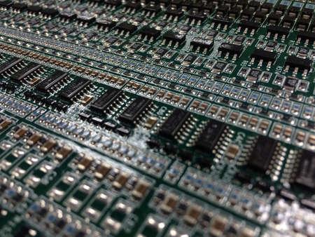 print: PCB board pattern