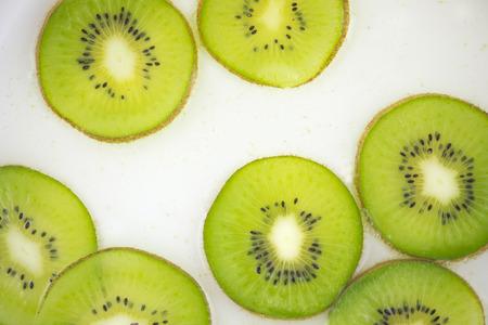 Kiwi slices for background