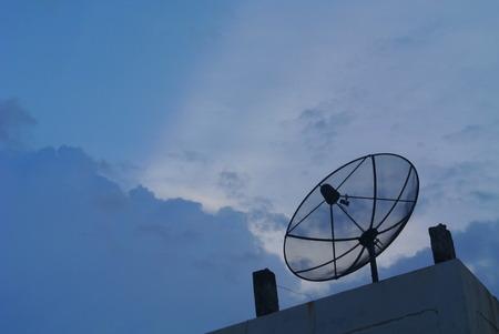 Satellite dish sky sunset communication technology network photo