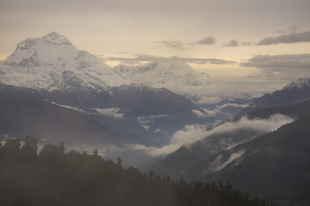 Annapurna mountain range from Poon Hill viewpoint photo