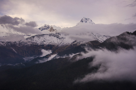 Annapurna mountain range from Poon Hill viewpoint