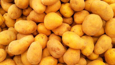Potatoes pattern, Selective focus Stock Photo