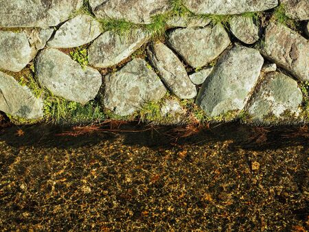 Abstract rock with water flow